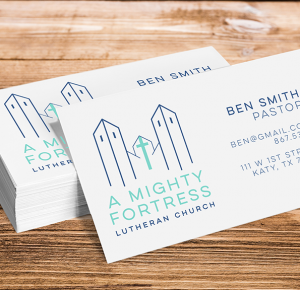 Image example of A Mighty Fortress business cards