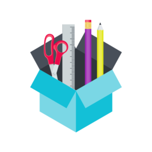 Icon of toolbox of design resources
